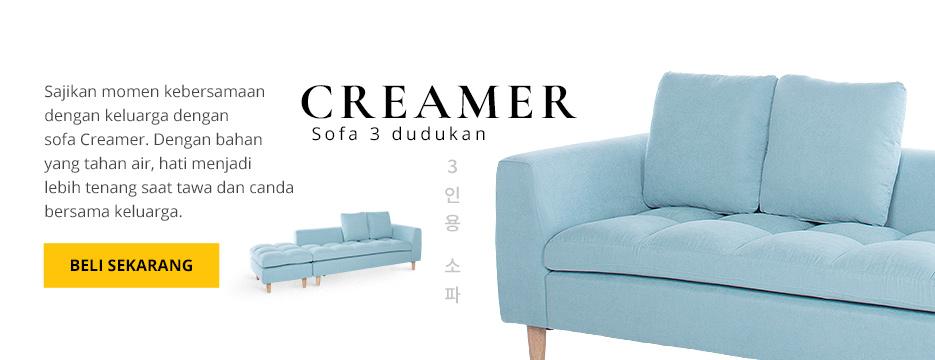 CREAMER Sofa 3 Dudukan
