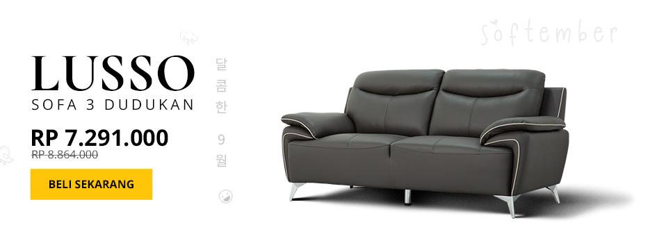 LUSSO Sofa 3 Dudukan